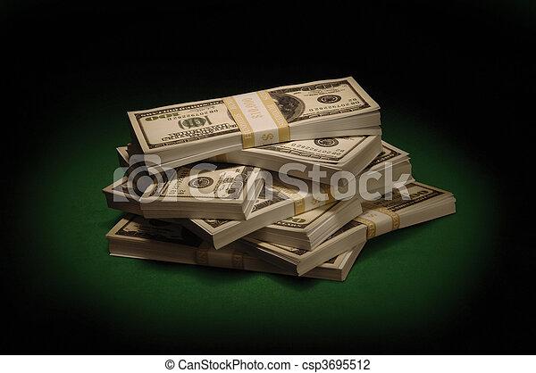 Stacks of Cash - csp3695512