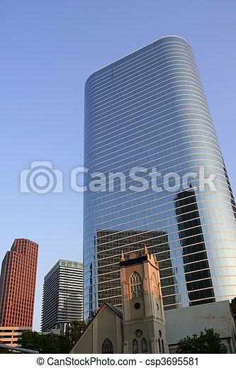 Houston Texas blue buildings skyscraper city - csp3695581