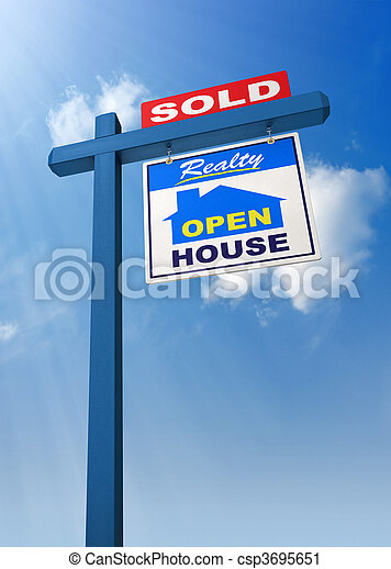 Real Estate Sign - csp3695651