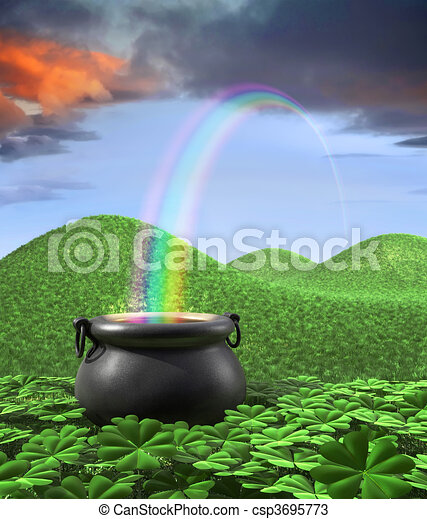 End of the Rainbow - csp3695773