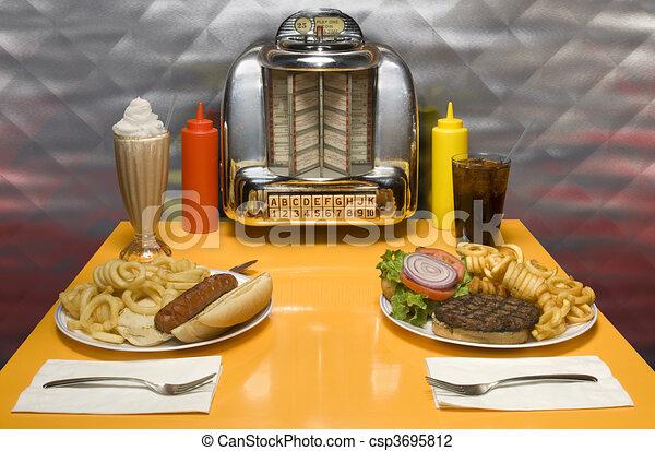 Retro Diner - csp3695812