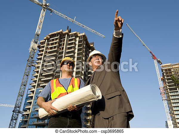 Contractor and Foreman - csp3695865