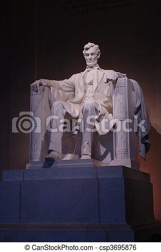 Lincoln Memorial statue - csp3695876