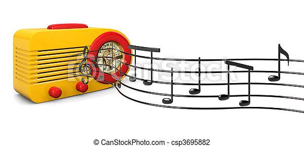 Retro Tunes - csp3695882