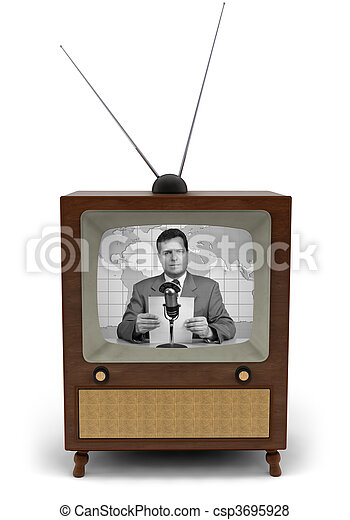 TV,  retro - csp3695928