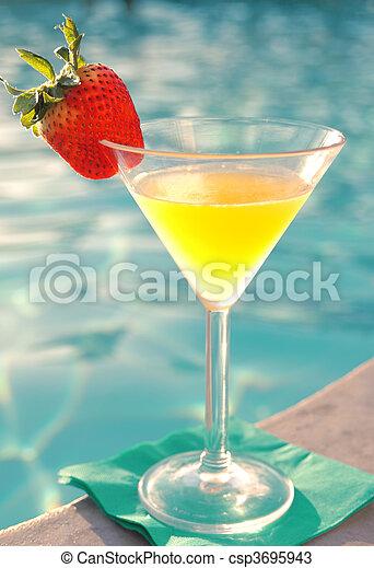 Mango Martini Poolside - csp3695943