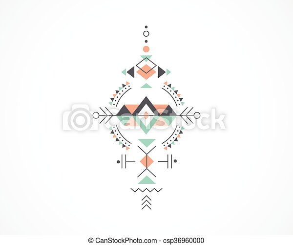 Vector Clipart of Esoteric, Alchemy, sacred geometry, tribal and ...