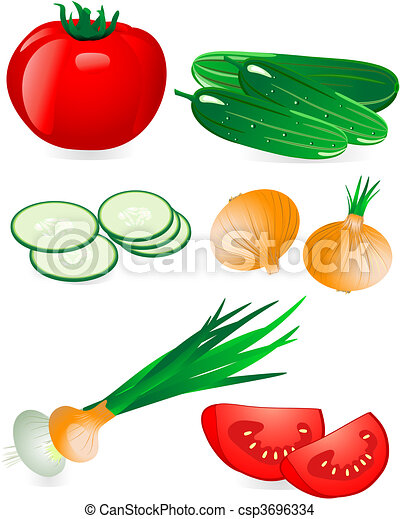 cucumber and tomato onion - csp3696334