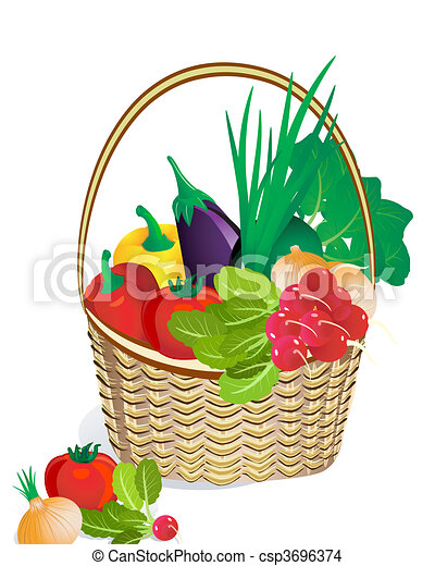 vegetables in the basket - csp3696374