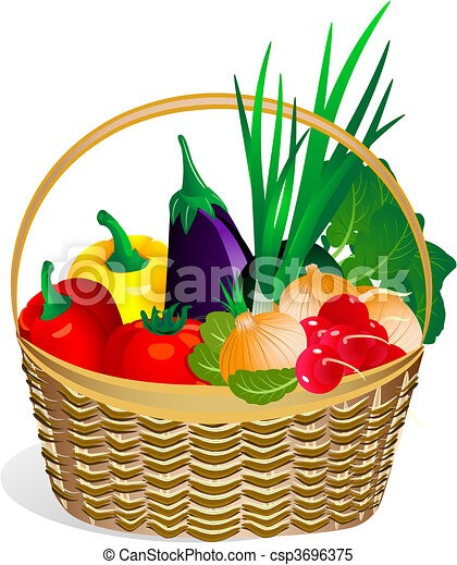 vegetables in the basket2 - csp3696375