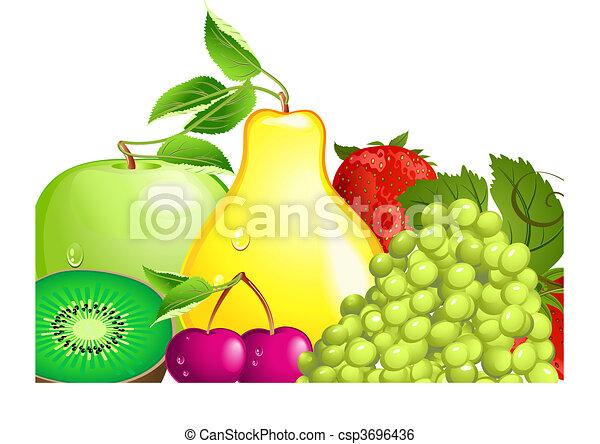 Juicy Fruit - csp3696436