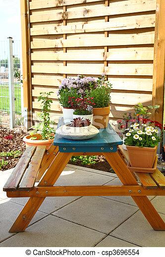 Terrace or roof gardening - csp3696554