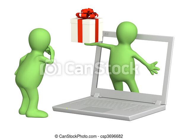 Virtual gift - csp3696682