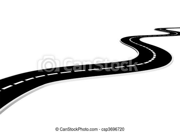 Archivio illustrazioni di strada isolato asfalto for Disegno 3d free