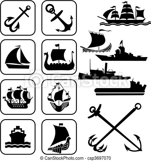 ships icons - csp3697070