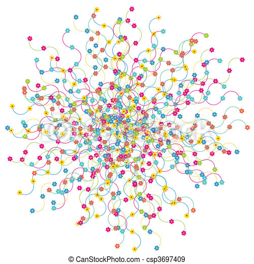 Network background with flowers - csp3697409