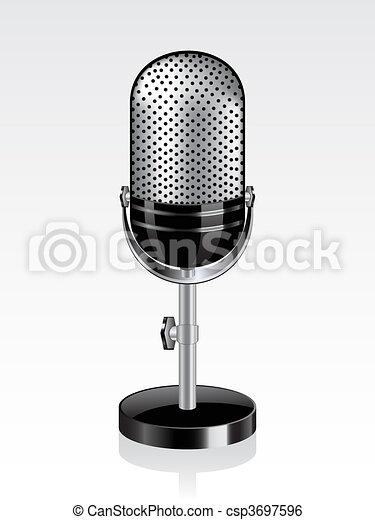 Retro microphone - csp3697596