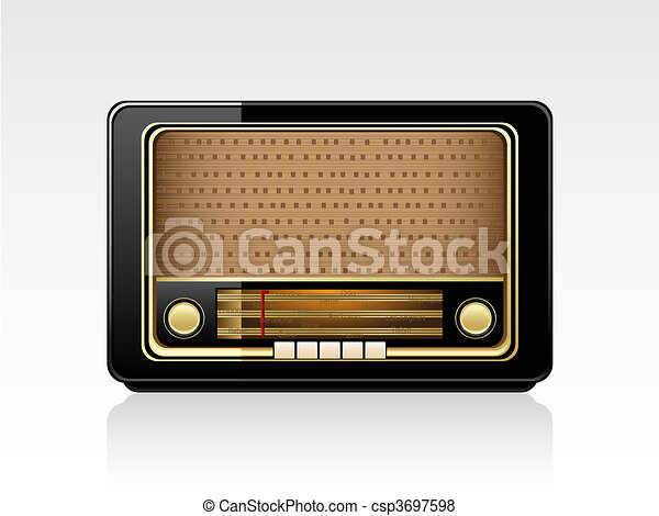 Retro radio - csp3697598
