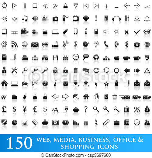 Icon set for web applications - csp3697600