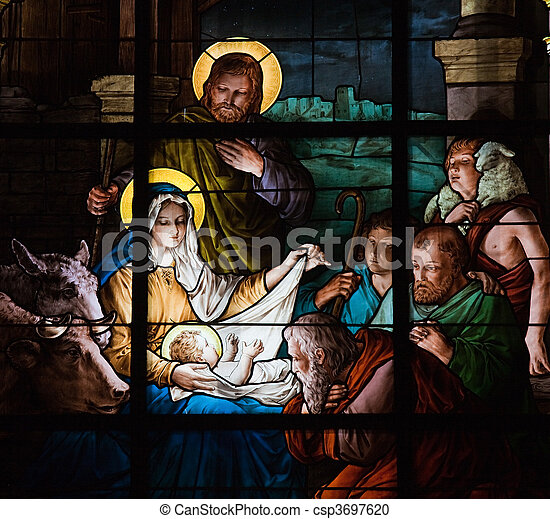 Nativity Scene - csp3697620