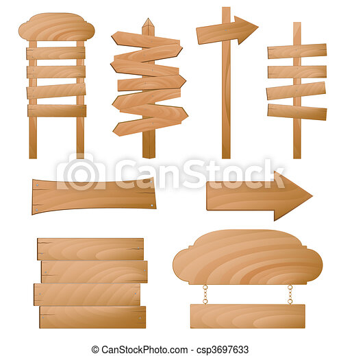 Wooden signs - csp3697633