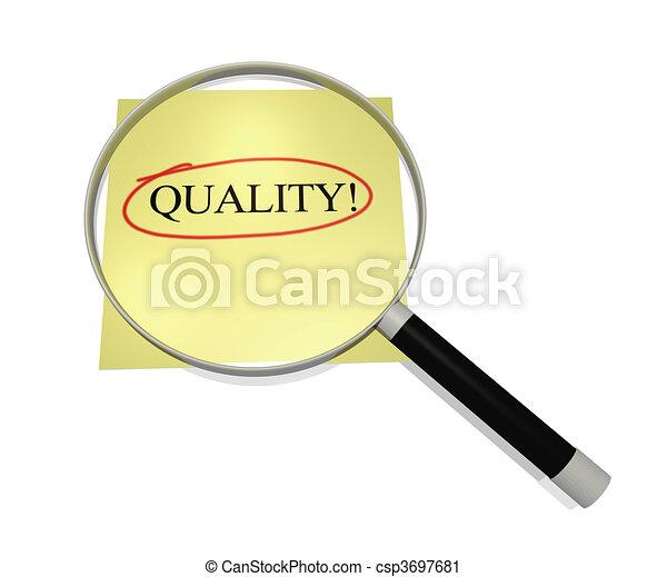 Focus on Quality - csp3697681