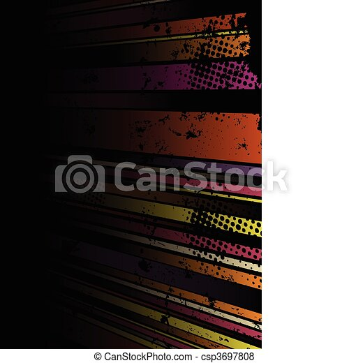 Abstract Grunge Stripe Background in several colors. - csp3697808