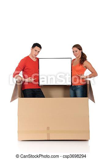 Chat box couple advertizing