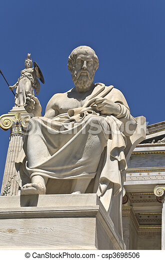 Plato statue at the Academy of Athe - csp3698506