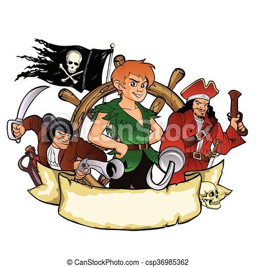 Peter Pan and the pirates - csp36985362
