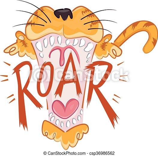 Tiger roar vector - photo#23