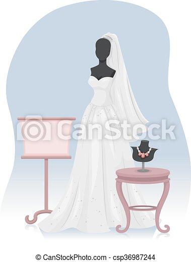 Bridal Gown - csp36987244