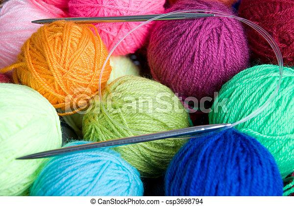 wool knitting - csp3698794