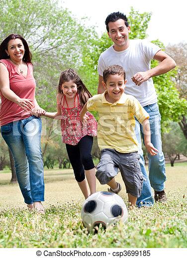 Happy family run - csp3699185