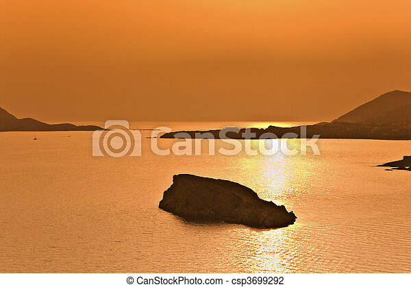 Cape sounio at Attica, Greece (Pose - csp3699292