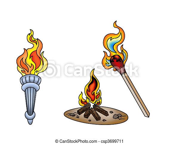 outdoor fire - csp3699711