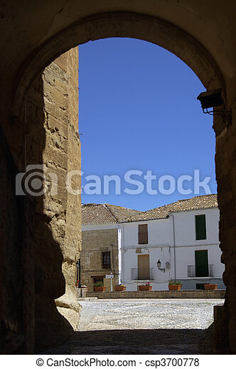 Alhama de Granada, a typical village of Andalucia, Spain - csp3700778