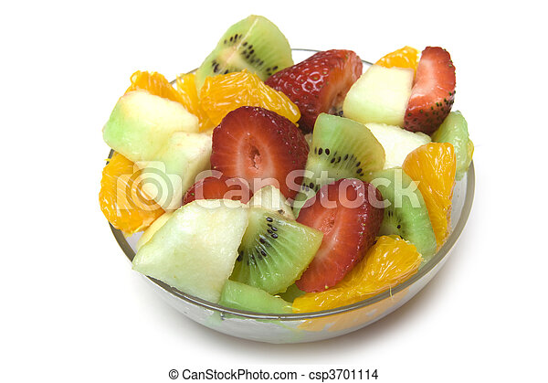 Fresh Fruit Salad in the bowl - csp3701114
