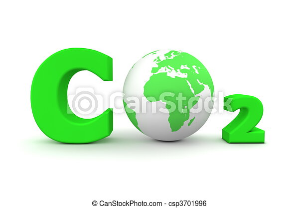 Global Carbon Dioxide CO2 - Green - csp3701996