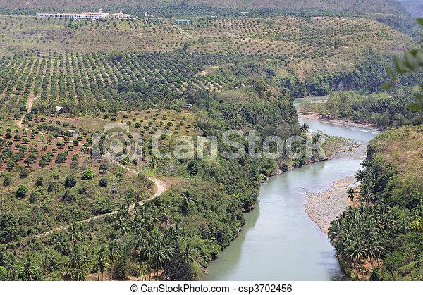 Meandering Cagayan river Philippines - csp3702456