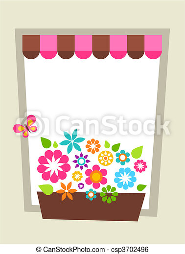 Window-shaped card template - csp3702496