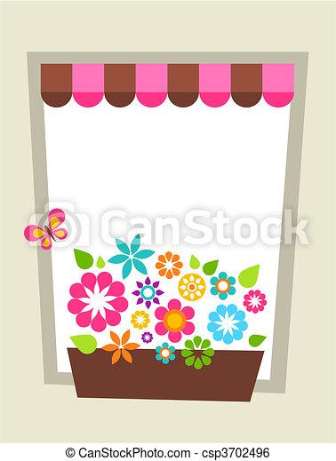Window-shaped card template - csp3702496