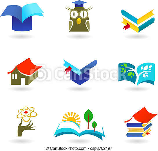 Education and schooling icon set - csp3702497