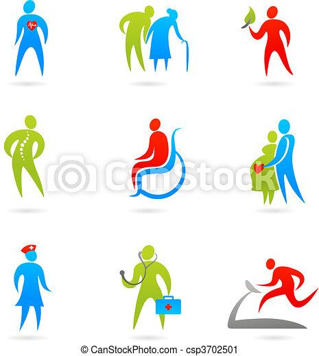 Healthcare icon set - csp3702501
