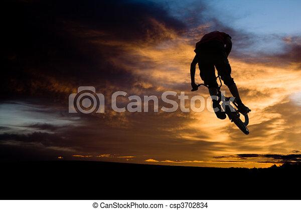 bmx rider - csp3702834