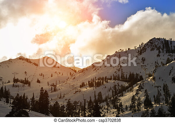 Squaw Valley ski resort - csp3702838