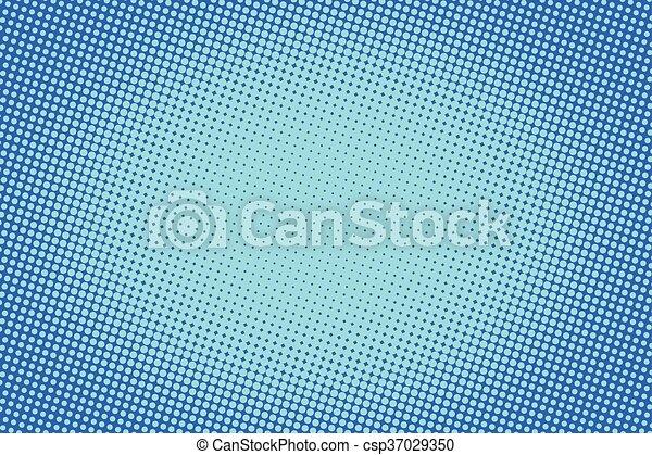 retro comic blue background raster gradient halftone - csp37029350