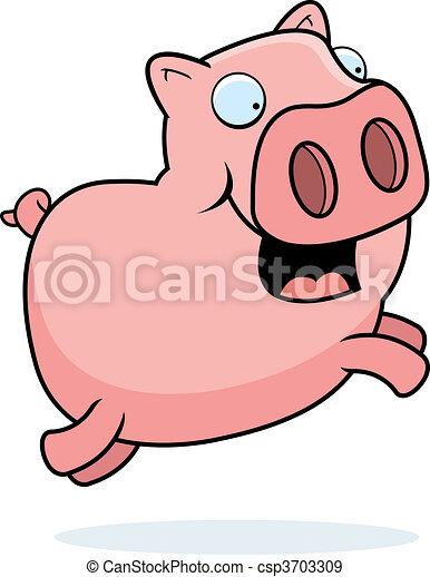 Pig Jumping - csp3703309