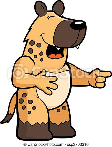 Hyena Laughing - csp3703310