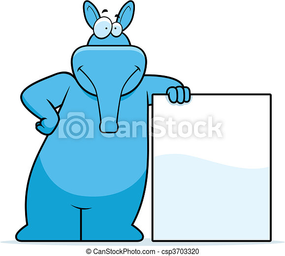 Aardvark Leaning - csp3703320